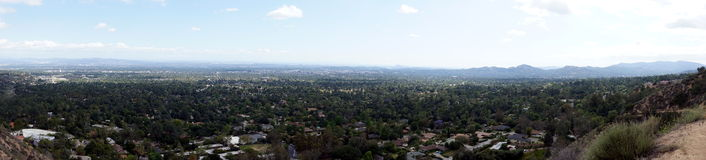 Panoramic view of Los Angeles from Altadena mountains Stock Image