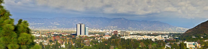 Los Angles City Panoramic View Royalty Free Stock Photo