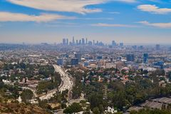 Panoramic view of Los Angeles royalty free stock images