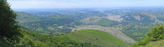 Panoramic view from Lourdes Stock Photography