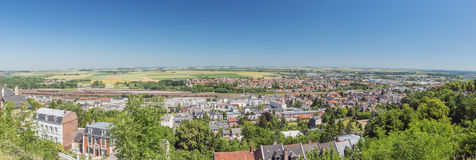 Panoramic view of the lower city of Laon Stock Photo