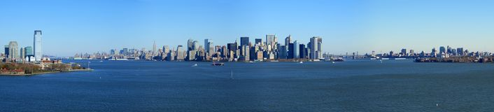 Panoramic view of lower Manhattan, New York Royalty Free Stock Images