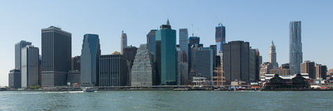 Panoramic view of lower Manhattan in New York Stock Image