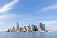 Panoramic view of Lower Manhattan, New York City, USA Stock Photo