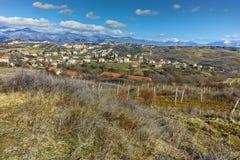 Panoramic view of Lozenitsa Village near Melnik town,  Bulgaria Royalty Free Stock Images