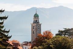 Panoramic view on Lugano lake, Switzerland Stock Photography