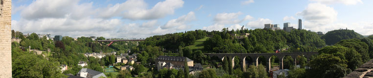 Panoramic view of Luxembourg Stock Images