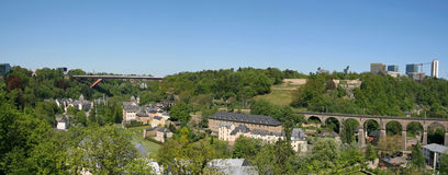 Panoramic view of Luxembourg city Royalty Free Stock Images