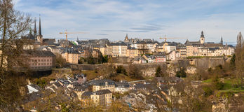 Panoramic view of Luxembourg-city Stock Image