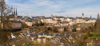 Panoramic view of Luxembourg-city. Panoramic view of Luxembourg city Stock Image