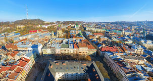 The panoramic view of Lviv, Ukraine Stock Photo