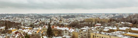 Panoramic view of Lviv, Ukraine Stock Image