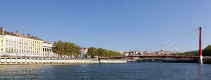 Panoramic View of Lyon Stock Photos