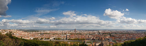 Panoramic View of Lyon, France, from Fourviere Stock Image