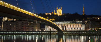 Panoramic view of Lyon Royalty Free Stock Images