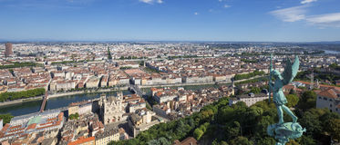 Panoramic view of Lyon Royalty Free Stock Photo