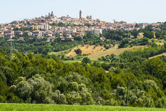 Panoramic view of Macerata Stock Image