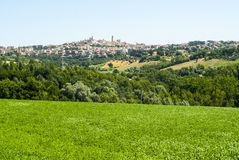 Panoramic view of Macerata Royalty Free Stock Photos