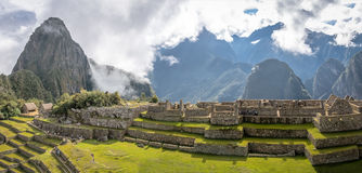Panoramic View of Machu Picchu Inca Ruins - Sacred Valley, Peru Stock Photography