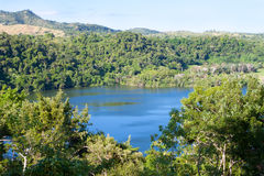 Panoramic view Madagascar. Panoramic view of the lake, Madagascar Royalty Free Stock Images