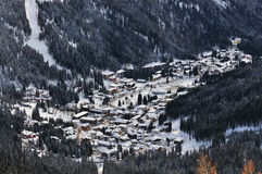 Panoramic view at Madonna di Campiglio , Italian Alps, Italy Royalty Free Stock Photo