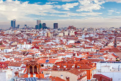 Panoramic view of madrid Royalty Free Stock Photography