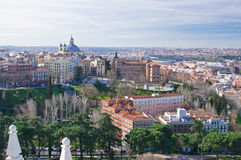 Panoramic view of Madrid, Spain Royalty Free Stock Images