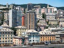 Panoramic view Genoa royalty free stock image