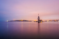 Panoramic view of Maiden`s Tower stock photography