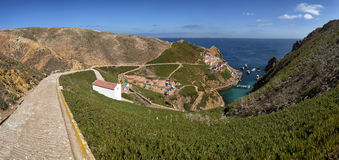 Panoramic view of the main island of berlengas in the Atlantic Ocean, Portugal. Stock Photos