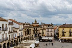 Constructions in the main square of Trujillo. Extremadura Spain royalty free stock photo
