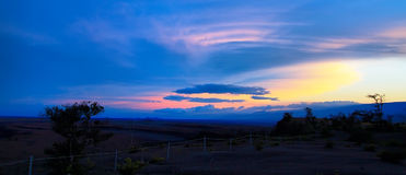 Panoramic view of majestic sunset from Jaggar museum viewpoint Stock Image