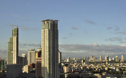 Panoramic view of Makati City on a sunny day Stock Images