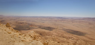 Panoramic view of Makhtesh Ramon Royalty Free Stock Images