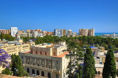 Panoramic view of Malaga, La Alcazaba, Histiric Building, Malaga, Spain Stock Photos