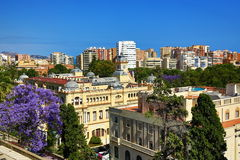 Panoramic view of Malaga, La Alcazaba, Histiric Building, Malaga, Spain Royalty Free Stock Photo
