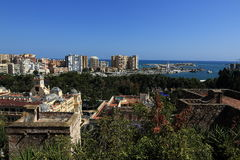 Panoramic view of Malaga, La Alcazaba, Histiric Building, Malaga, Spain Stock Photography