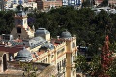 Panoramic view of Malaga, La Alcazaba, Histiric Building, Malaga, Spain Stock Photo