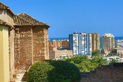 Panoramic view of Malaga, La Alcazaba, Histiric Building, Malaga, Spain Stock Images
