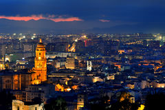 Panoramic view of Malaga Royalty Free Stock Photo
