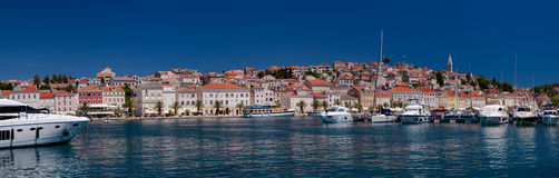 Panoramic view of Mali Losinj port and city. In Croatia Stock Images