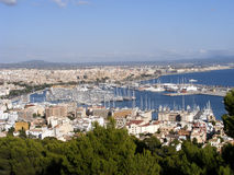 Panoramic view of Mallorca. Panoramic view of Palma de Mallorca in Spain Stock Image