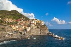 Panoramic view of Manarola Stock Photos
