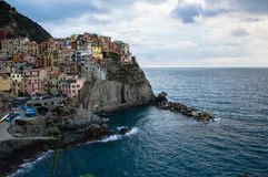 Panoramic view of manarola liguria stock images