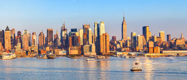 Panoramic view of Manhattan Royalty Free Stock Images