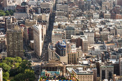 Panoramic view of Manhattan from the Empire State Building Royalty Free Stock Image