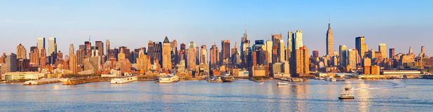 Panoramic view of Manhattan Royalty Free Stock Image