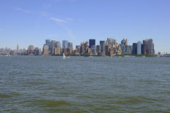 Panoramic View of Manhattan in New York City Royalty Free Stock Images