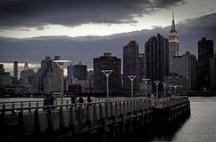 Panoramic view of Manhattan stock images