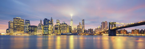 Panoramic view of Manhattan Stock Images